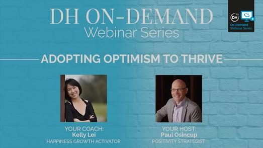 Adopting optimism to thrive-cover